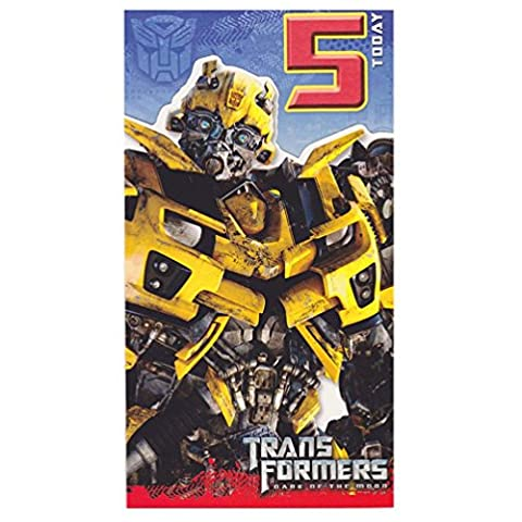 Transformers - Age 5 Birthday Card - 5th