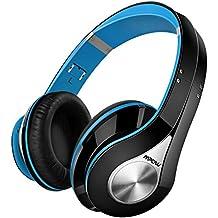 Mpow 059, Auriculares Bluetooth de Diadema Inalámbricos, Cascos Bluetooth Plegable con Micrófono Manos Libres y Hi-Fi Sonido Estéreo 20Horas Reproducción de Música para TV, PC, Movil, Azul