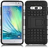 Galaxy A5 Hülle, JAMMYLIZARD [ ALLIGATOR ] Doppelschutz Outdoor-Hülle für Samsung Galaxy A5, SCHWARZ