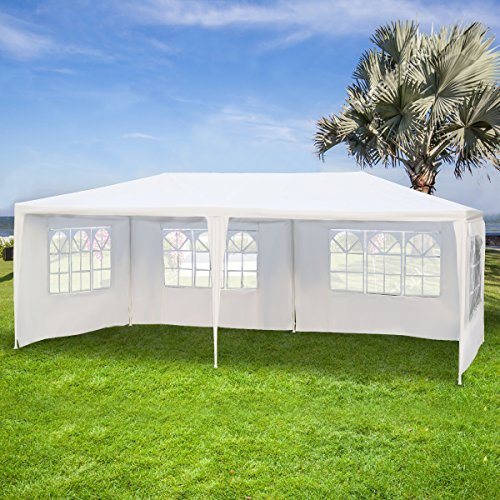 Gartenpavillon Partyzelt Bierzelt Pavillon Gartenzelt Hochzeit Festzelt Zelt 3 x 6 m Farbwahl...