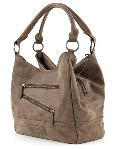 FRITZI AUS PREUSSEN, Damen Handtaschen, Shopper, Schultertaschen, Henkeltaschen, 34 x 23 x 17 cm (B x H x T) Braun