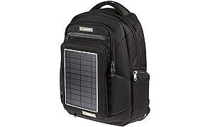 SunnyBAG EXPLORER 2 Solar-Rucksack mit abnehmbarem Solarpanel inkl. Regenschutz bietet Platz für Laptops & Notebooks | ladet Smartphones, Handys, Digitalkameras, ... mit Sonnenenergie
