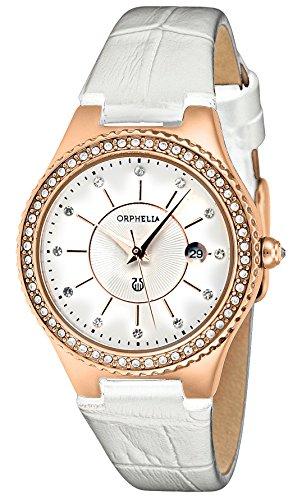 Orphelia - OR22173281 - Montre Femme - Quartz - Analogique - Bracelet cuir Blanc