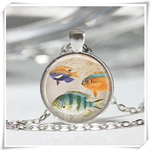 skette Ocean Sea Life Marine Aquarium Nautische Art Anhänger in (Nautische Halskette)