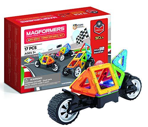 Magformers 707019 - Juego de Ruedas magnéticas para construcción, Multicolor