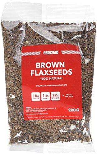 Prozis 100% Natural Brown Flaxseed 200g - Carichi di Omega-3, Proteine e Fibre Dietetiche - Adatto a Vegetariani e Vegani - 19 Porzioni