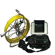 mabelstar 50mm CCD autonivelación 100M cable Alcantarillado de tubo cámara de inspección con 512hz transmisor y meter Counter