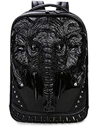 1c8dd913cd GaHqm Elephant Backpack Sac à Dos en Cuir pour Ordinateur Portable Rivet  for Men Sac à