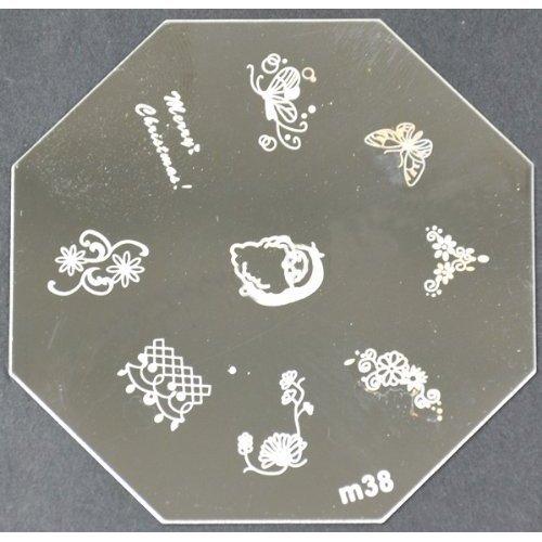 Nail Art emboutissage des tôles - M01 CODE : M38-plaque