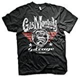 Gas Monkey Best Deals - Gas Monkey Garage - High Flying Monkey Pilot T-Shirt Gas scimmia Garage - High Flying scimmia Pilot T-Shirt (Nero) (Medio)