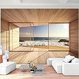 Fototapete Fenster zum Meer 352 x 250 cm Vlies Wand