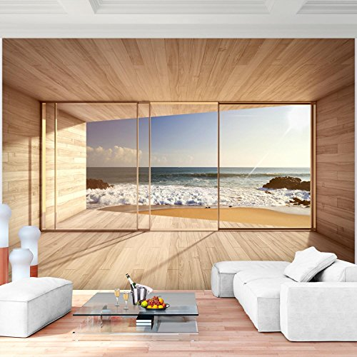 Fototapete Fenster zum Meer 308 x 220 cm - Vliestapete - Wandtapete - Vlies Phototapete - Wand - Wandbilder XXL - !!! 100% MADE IN GERMANY !!! Runa Tapete 9051010a