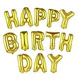 NUOLUX HAPPY BIRTHDAY Luftballons, Buchstaben Luftballons, 18 Zoll, Golden