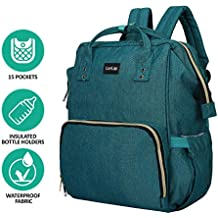 LuvLap Lily Travel Multifunctional Waterproof Diaper Bag-Backpack Cum Tote Bag (Green)