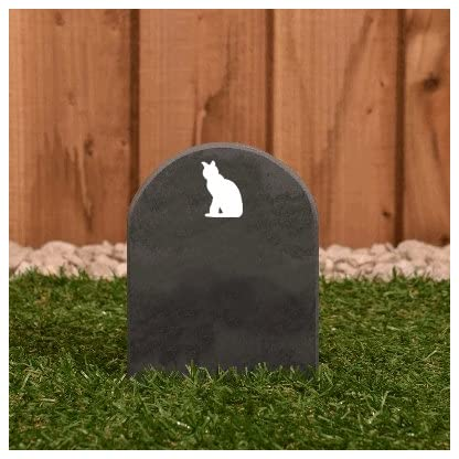 Pet Gravestone personalised with name and motif personalised 5