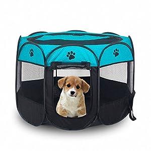 tienda mascotas: MiLuck Animal de compañía portátiles plegables Playpen, ejercicio de 8 paneles d...