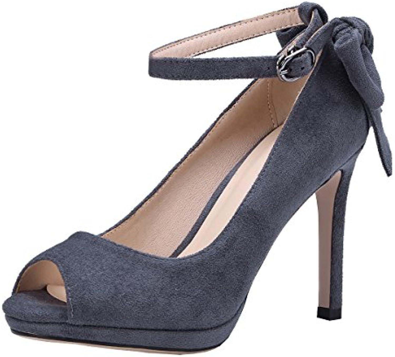 AIYOUMEI Zapatos de Vestir de Terciopelo Mujer -