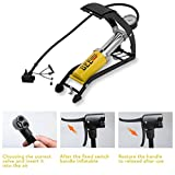 Krupalu Foot Pump, 160PSI Portable Aluminum Body Bike Pump with Accurate Pressure Gauge and Smart Valves Floor Air Pumps for Bicycles, Motorcycles, Cars and Electric Bicycle