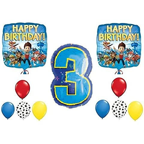 PAW Patrol 3rd Happy Birthday Balloon Decoration Kit by Party Supplies