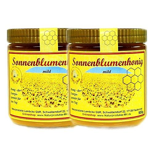 2x 500g Sonnenblumenhonig Sonnenblumen Honig