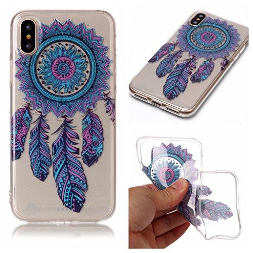 """Hülle für Apple iPhone X , IJIA Transparent Schmetterling Blumen TPU Weich Silikon Stoßkasten Cover Handyhülle Schutzhülle Handytasche Schale Case Tasche für Apple iPhone X (5.8"""") XS77"""