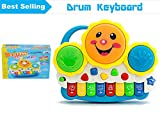 #9: Vivir Drum Keyboard Musical Toys with Flashing Lights , Animal Sounds and Songs (Stimulates Hand-Eye Co-Ordination, Imagination, Musical Interests, Color Perception In Kids.)