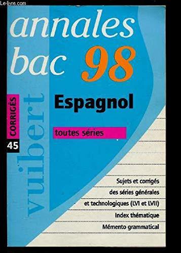 Bac 1998 : Maths, sujets corrigés par Collectif