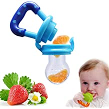 Westeng - Alimentador antiahogo para bebé, tetina silicona con sujetacadena