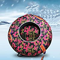 ZHAOK Snow Tubes, Inflatable Snow Tube, Snow Tube for Winter Fun Inflatable 100 CM Heavy Duty Snow Sleds Skiing Supplies, for Kids and Adults, Sturdy Sledding Tubes, Easy to Grip Handles,I
