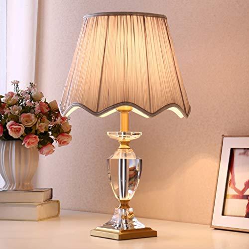 Seven stars Beistelltisch Tischlampe Tuch - T4134 Amerikanischen einfachen Kupfer Kristall warm romantische Schlafzimmer Wohnzimmer Lampe (Farbe : Gray)