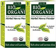 Indus Valley Natural Henna Combo (100% Organic, USDA Certified) Herbal Henna Powder Pack of 2-200 gm