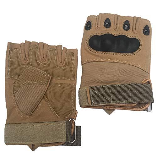 Blisfille Handschuhe Radsport Herren Taktische Halbe Fingerhandschuhe Fitness Herren Robuste Tragen Armee Ventilator Im Freiensport Handschuhe (Fox Ventilator)