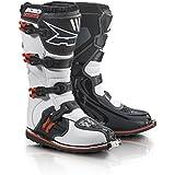 Axo Botas de Motocross (Drone Limited, color blanco/rojo
