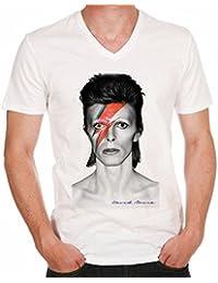 David Bowie eccentric grey H T-shirt,cadeau,Homme,célébrité,Blanc,t shirt homme