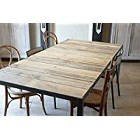 Amazon Fr Table Industrielle Metal Tables Salle A Manger