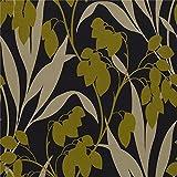 Harlequin papier peint Motif Plat (Noir et Doré 75771)