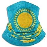 Bklzzjc Bandera de Kazajstán Calentador de Cuello - Tubo de Polaina, Diadema y mascarilla.