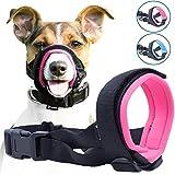 GoodBoy Museruola gentile per cane – Impedisce morsi, masticamento e latrato (XL, Rosa)