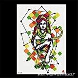 zgmtj Autoadesivo del Tatuaggio del Braccio del Fiore di Immagine Grande Autoadesivo del Tatuaggio del Sanscrito Inglese 9 148 * 210MM