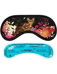 Daydream M-3062 Masque de nuit avec coussinet rafraîchissant pour enfant Noir Motif Bambi
