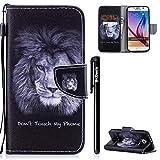 BtDuck Kompatibel mit Handyhülle Samsung Galaxy S6 Tasche Leder Stand Flip Case Schutzhülle Brieftasche Mädchen Ledertasche Stoßfest mit Kartenfächer Brieftasche