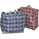 LARGE STRONG ZIPPED PLASTIC PVC SHOPPING BAG LAUNDRY REUSABLE STORAGE LUGGAGE by Guaranteed4Less