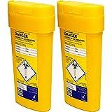 Qualicare Sharps Safe ago siringhe insulina chirurgia smaltimento rifiuti Bin box–0.6litri, confezione doppia
