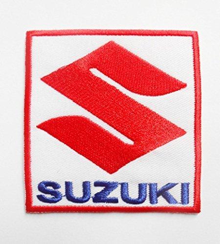 Parches - Suzuki - Rojo, azul y blanco - Moto - Motorsport - Motocicletas - Motero - Parche para planchar - Aplique bordado - Escudo bordado - Disfraz - Regalo