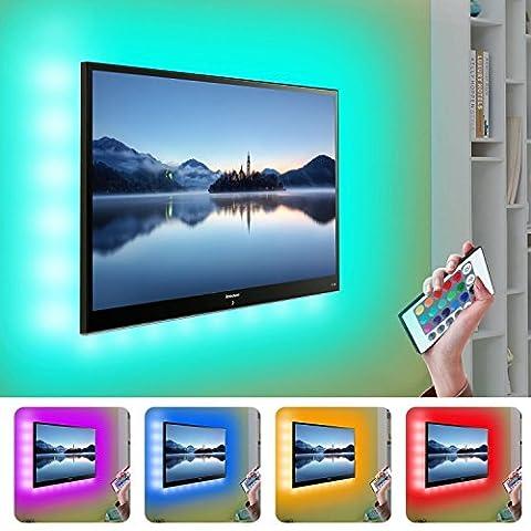 """90cm/35.4"""" RGB TV Hintergrundbeleuchtung USB LED Streifen Bunt, Kohree LED Lichtleiste mit Fernbedienung Bias Beleuchtung für HDTV, Flachbildschirm TV Zubehör und Desktop PC"""