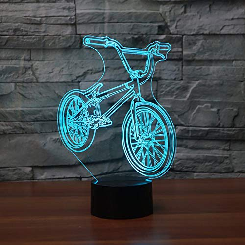 3D Led comodino Bmx Night Light Bicycle Shape Lampada da tavolo Usb 7 Cambia colore Bike Home Decor Camera da letto Sleep Lighting Fixture Regali
