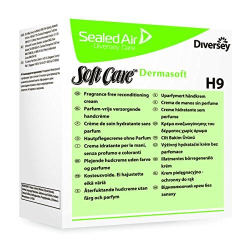 Diversey 6971740 Soft Care Dermasoft H9, parabenfreie Hautpflegecreme, 0,8 L