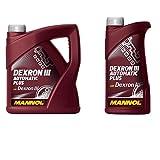 5 Liter Motoröl MANNOL DEXRON III 3 AUTOMATIC PLUS, Freigaben / Spezifikationen: GM Dexron III G; Ford Mercon; MB 236.9; Allison C4; Volvo S6-66; PSF Applications