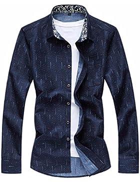 El otoño y el invierno hombre de elegante y acogedor, y hombre de camisa de manga larga Hombres camiseta