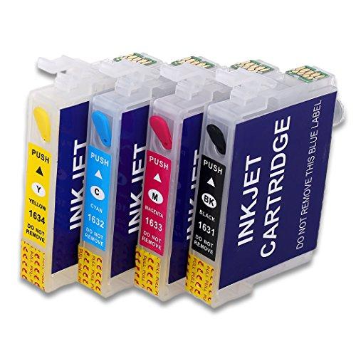 HEMEI 16XL Cartuccia D'inchiostro,Cartuccia D'inchiostro Ricaricabile, Compatibile per Stampanti Epson WF-2510 WF-2520NF WF-2530 WF-2540 WF-2010W WF-2750